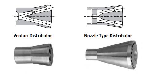 venturi vs. orifice distributor cutaway