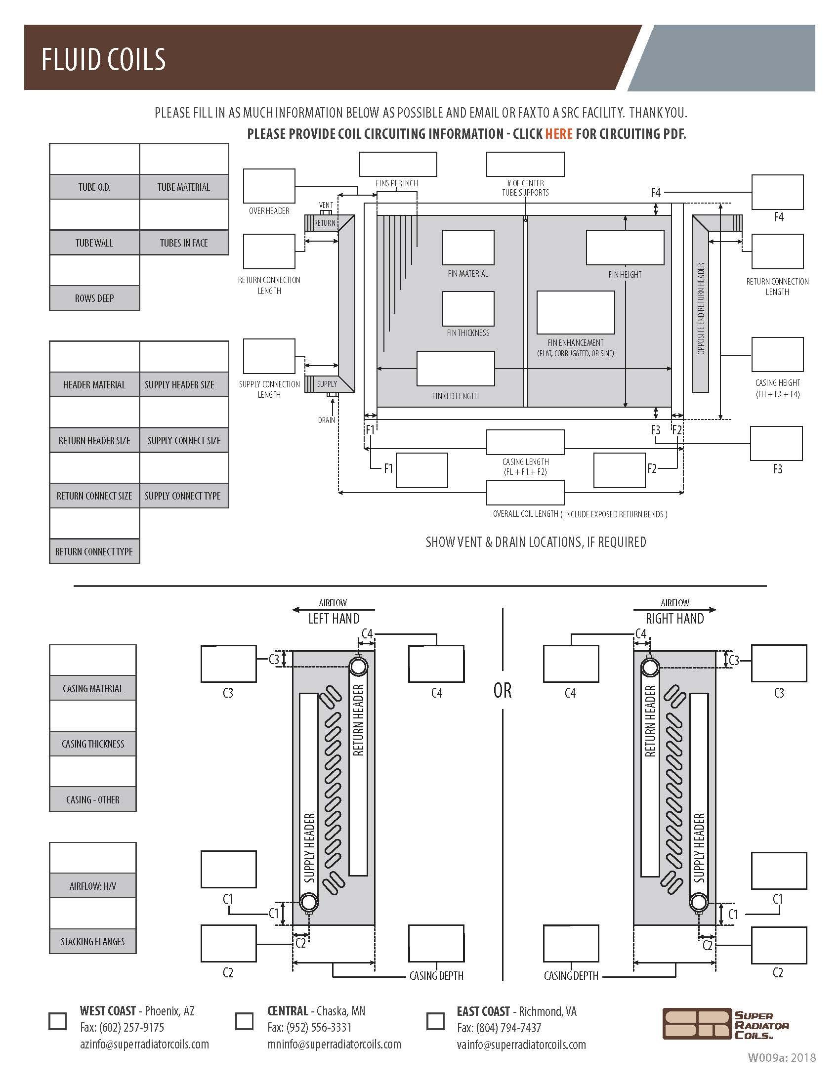 Fluid Coils Spec Sheet