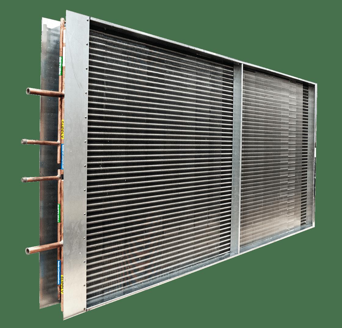 horizontal image of aluminum and copper condenser