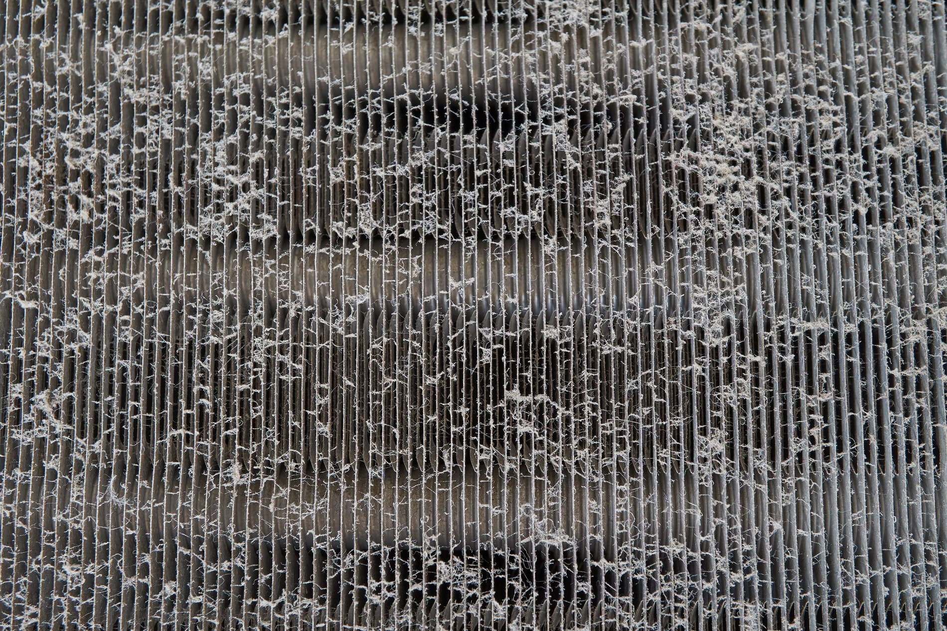 airside fouling on a heat exchanger's fin pack