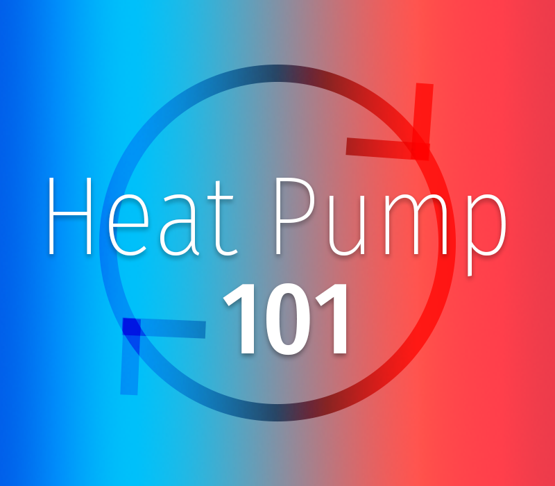 heat pump feature image showing circular loop changing from blue to red
