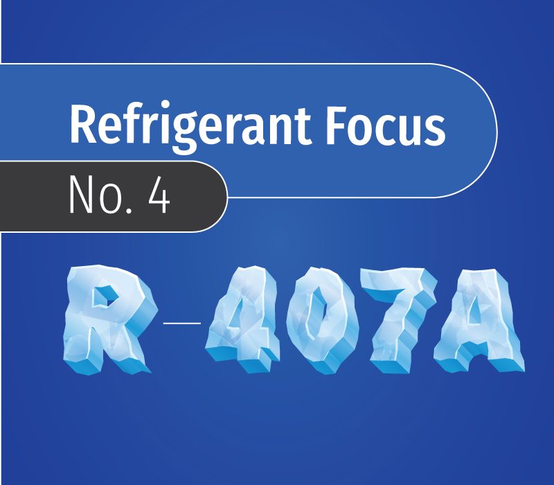 refrigerant focus no. 4 featured image with icy letters against a blue backdrop