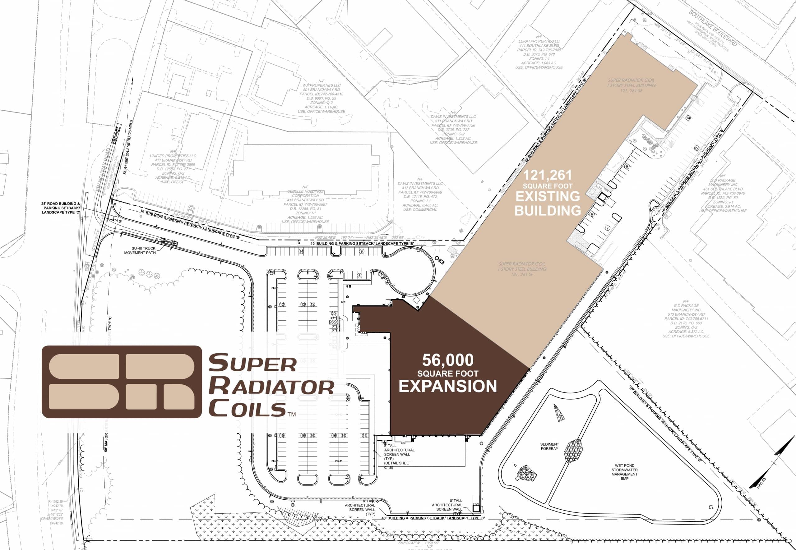 blueprint of super radiator coils expansion